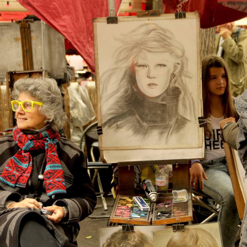 Paris, viajar, europa, reflexiones, oleo fresco, artistas, retrato