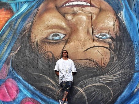 Sebastián Oyarbide, el tandilense que pasó de rayar paredes a pintar un mural en La Bombonera