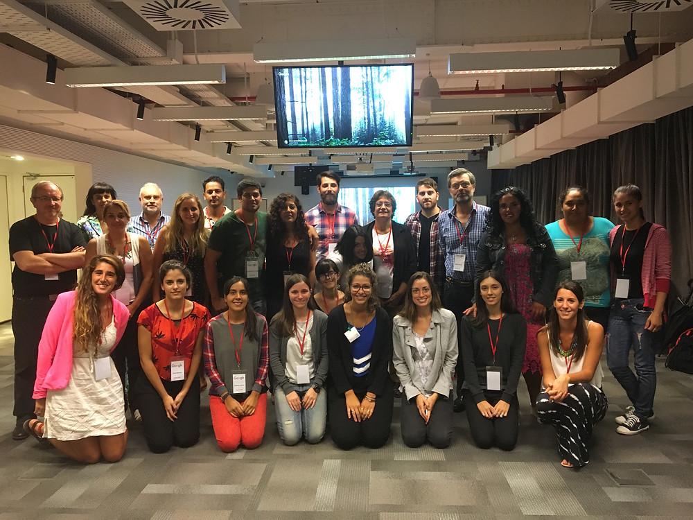 Algunos participantes de Planning for Good, la jornada de trabajo realizada en las oficinas de Google.