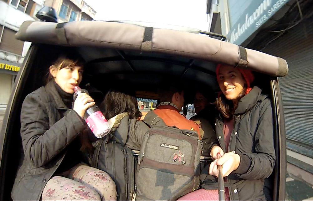 amristar-rickshaw, viajar en india, punjab, amritsar, auto rickshaw, mujeres
