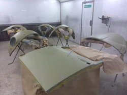 Panels in epoxy sealer