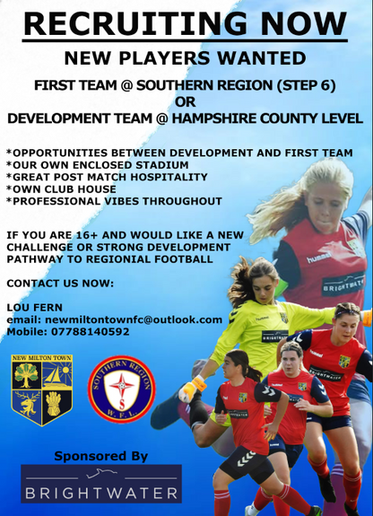 Ladies Section Looking to strengthen.