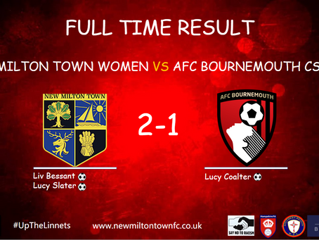 New Milton Town Ladies Win First Game Back