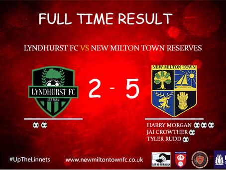 Reserves put Five past Lyndhurst.