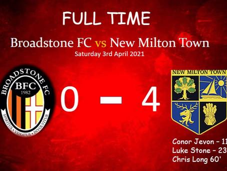 Broadstone FC 0-4 New Milton Town