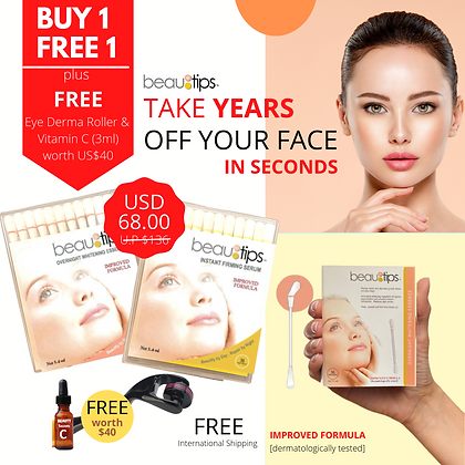 Beautips (Buy 1 Get 1 Free)+FREE Gifts (USD40)