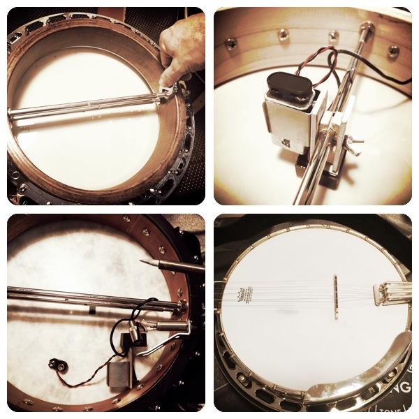 Banjo Montage - setups & pickup installs