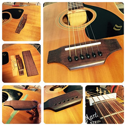 Lap steel conversion, which required a new bridge made