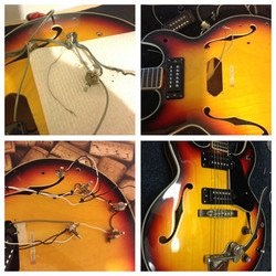 Vintage Aria hollow-body electric