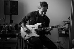 Jeb Cardwell playing a Strat
