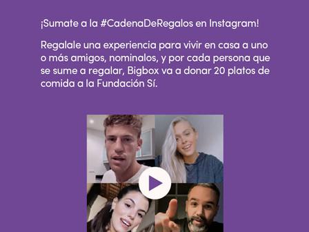Bigbox y Fundación Sí proponen sumarse a su #CadenaDeRegalos