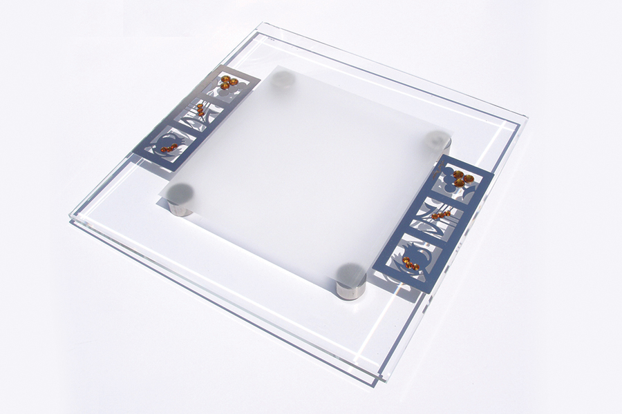 7.SQUARE CRYSTAL SERVING PLATE