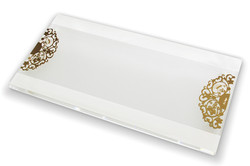5.RECTANGLE CRYSTAL SERVING PLATE