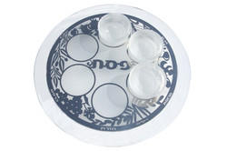 4.ROUND CRYSTAL PASSOVER PLATE