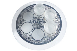 3.ROUND CRYSTAL PASSOVER PLATE