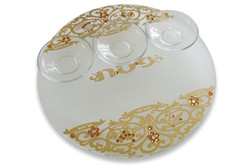 8.ROUND CRYSTAL PASSOVER PLATE