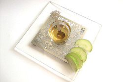10.SQUARE HONEY DISH with spoon