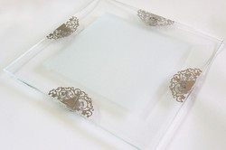 8.CRYSTAL SQUARE SERVING PLATE