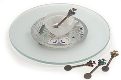 18.CRYSTAL ROUND SERVING PLATE