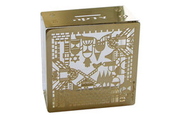 12.CRYSTAL TZEDAKAH BOX