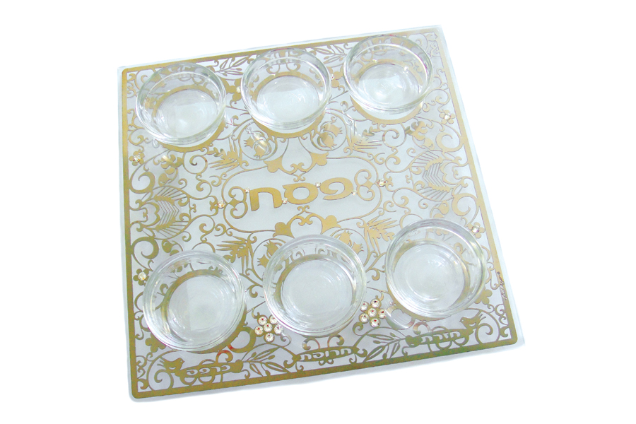 9.SQUARE CRYSTAL PASSOVER PLATE