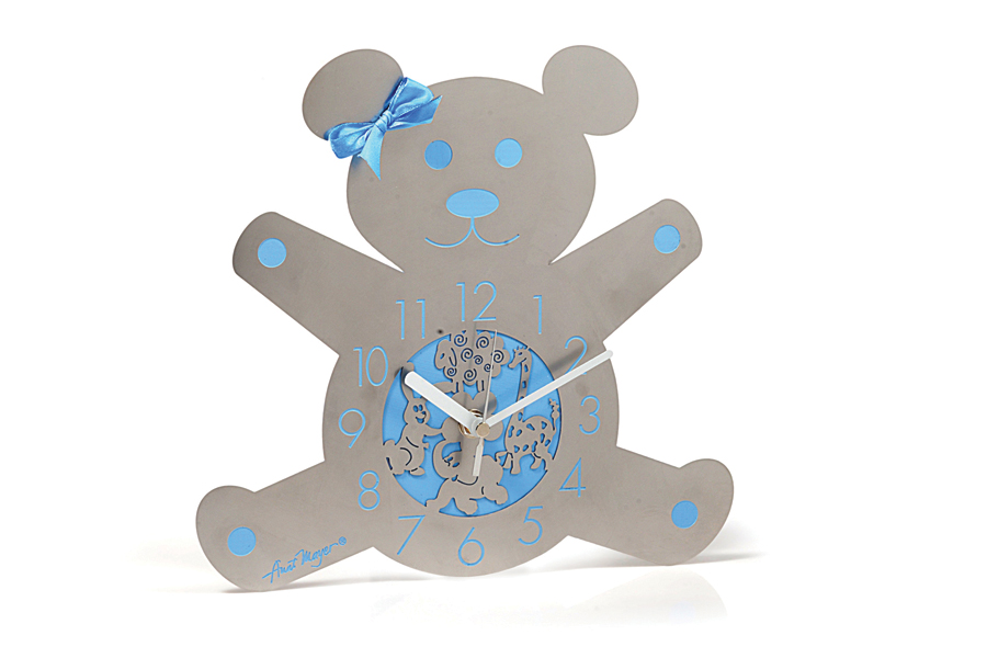 13.TEDDY BEAR BABY BOY WALL CLOCK