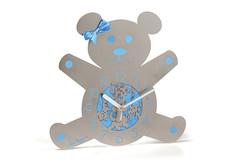 13.TEDDY BEAR BABY BOY WALL CLOCK