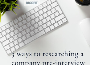 3 ways to researching a company pre-interview