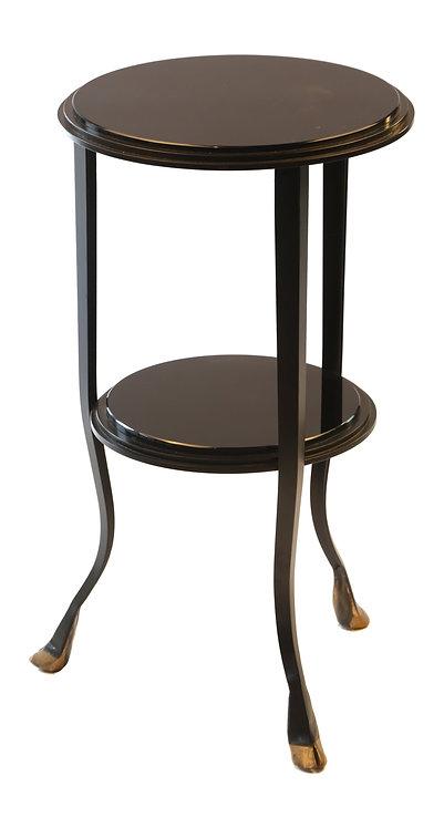 Black Glass Drinks Table