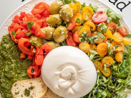 Scrumptious Burrata Salad Plate is a Breeze!