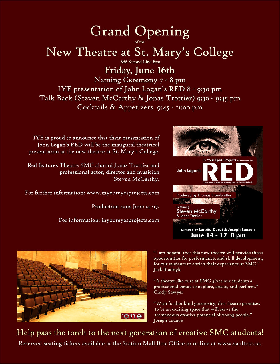 Grand Opening of the St. Mary's College Community Theatre