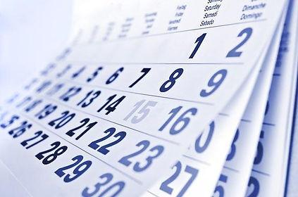 A calendar fading into the distance