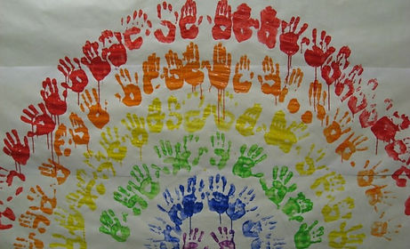 Children's hand prints overwritten with the WoT? heading