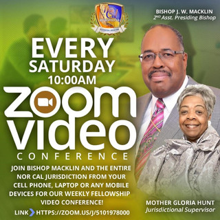 Every Saturday ZOOM Video