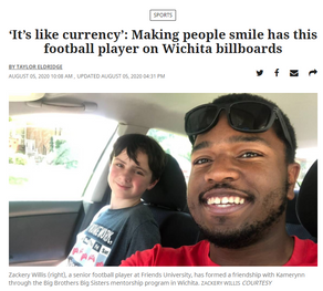 Big/Little Match Zackery and Kamerynn featured in Wichita Eagle article