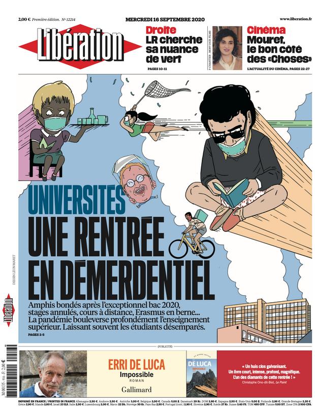 Leon MARET Léon maret bd illustration bande-dessinée bédé Libération Libé
