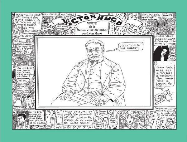 Leon MARET Léon maret bd illustration bande-dessinée bédé visite de la maison hugo victor hugo