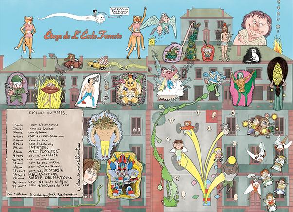 Leon MARET Léon maret bd illustration bande-dessinée bédé papa aux enfers