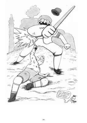Leon MARET Léon maret bd illustration bande-dessinée bédé canne de combat canne de fer et lucifer