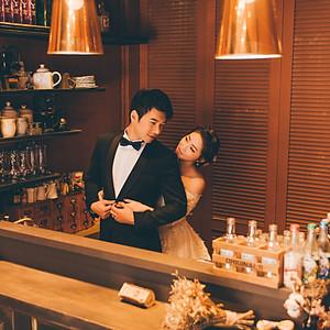 室內景咖啡店婚紗
