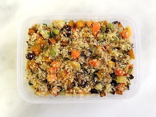 Couscous Marroquino com Legumes Assados e Damasco - Versatile