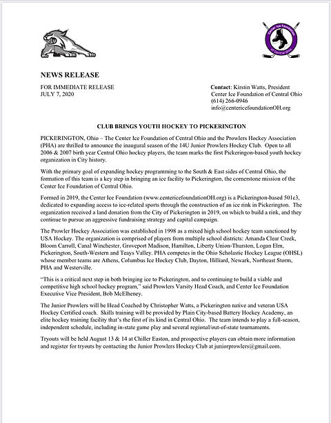 Jr Prowlers Press Release 072020.jpg