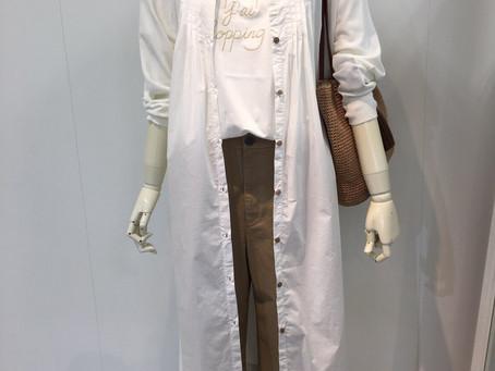 ホワイト♡ロングシャツ