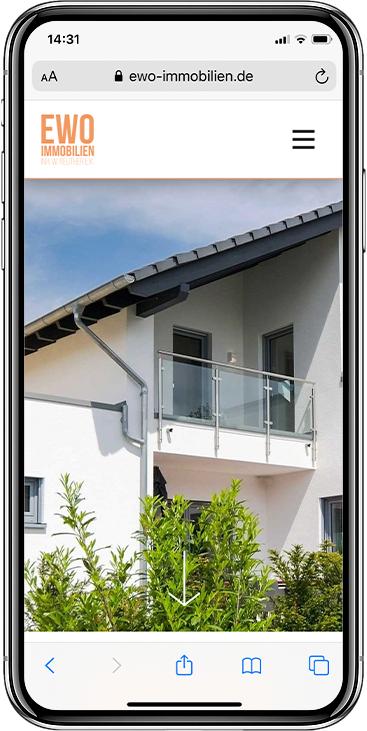 EWO iPhone Website Vorschau