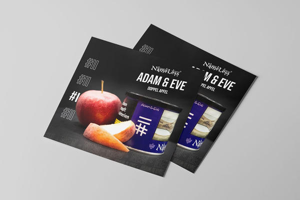 Flyer Produkankündigung Adam & Eve