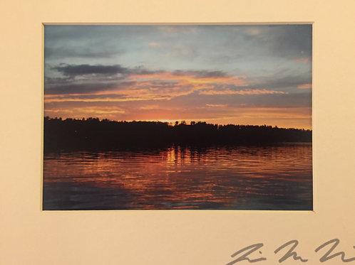 M8x10-4463 WI Peachy Sunset On Lake