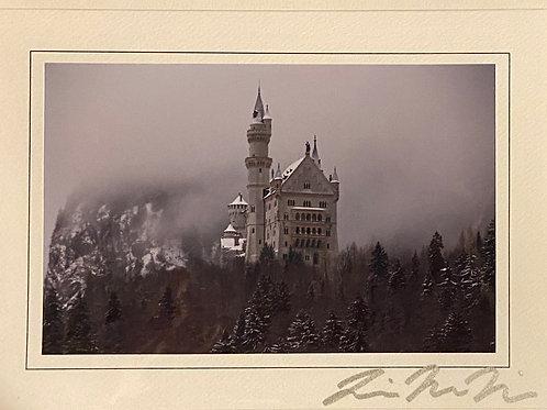 C-3943 Foggy Neuschanstein Castle Germany