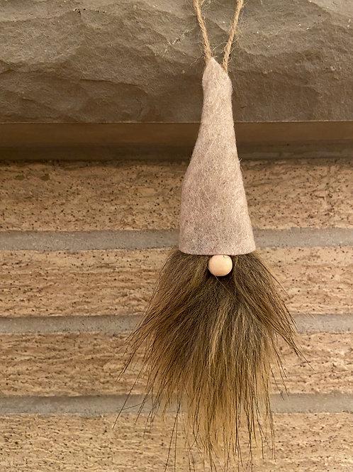 Gnome Ornament Brown/Black Beard Asst