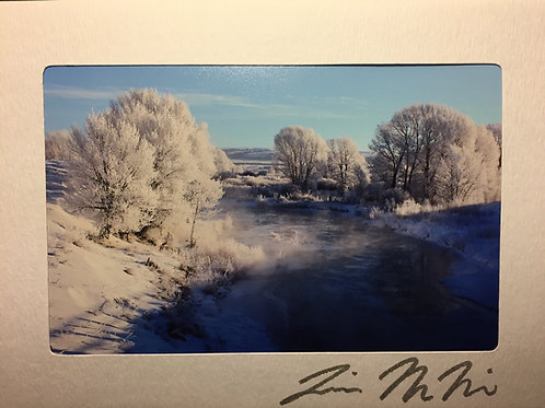 C-2733 Icy River-Blue Christmas Wyoming
