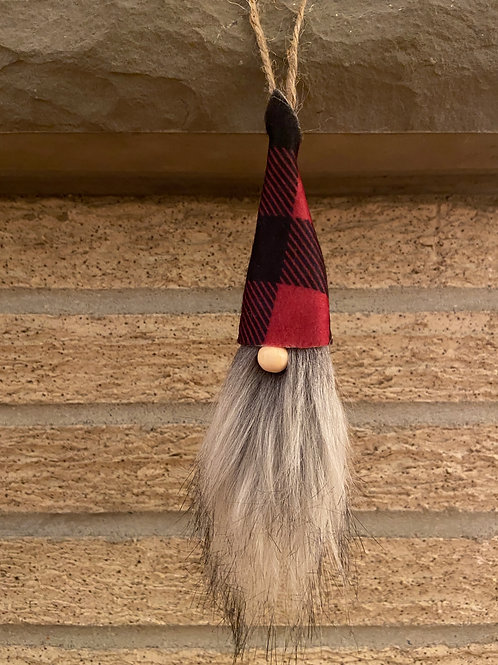 Gnome Ornament Grey Beard Asst
